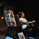 """Karen facilitating meditation at """"Manifest Your Best Year Yet with the Angels"""""""