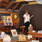 """Karen sharing her passion at """"Manifest Your Best Year Yet with the Angels"""" workshop"""