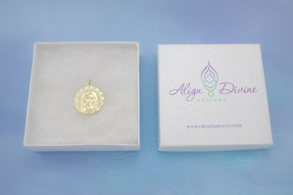 Mother Mary Gold Charm Front