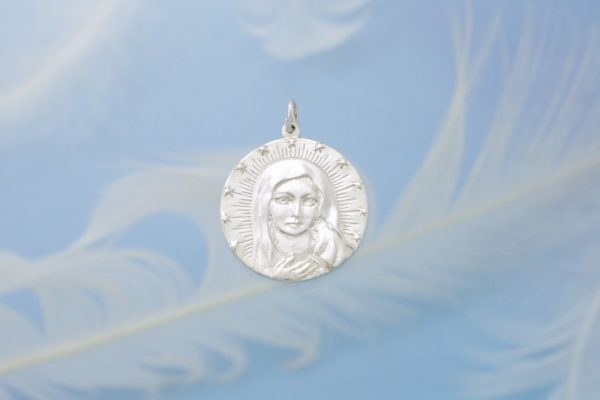 Mother Mary Silver Front
