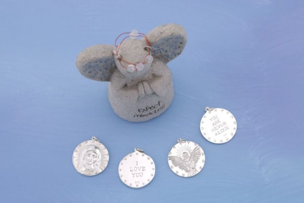 All Silver Charms With Angel Statue