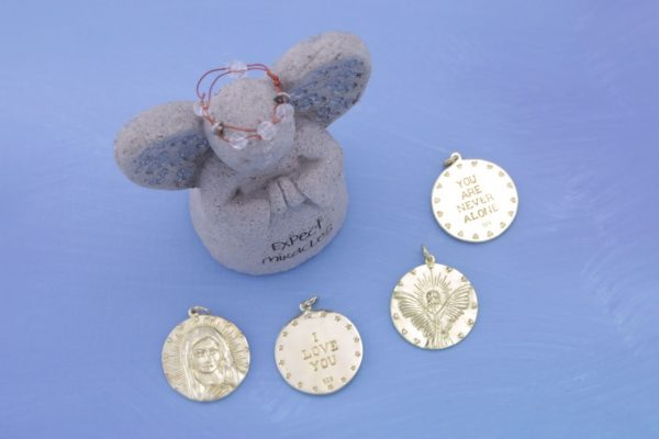 Gold Charms All With Angel Statue