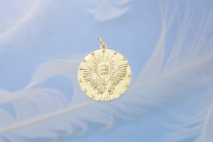 Guardian Angel Gold Charm Front 1