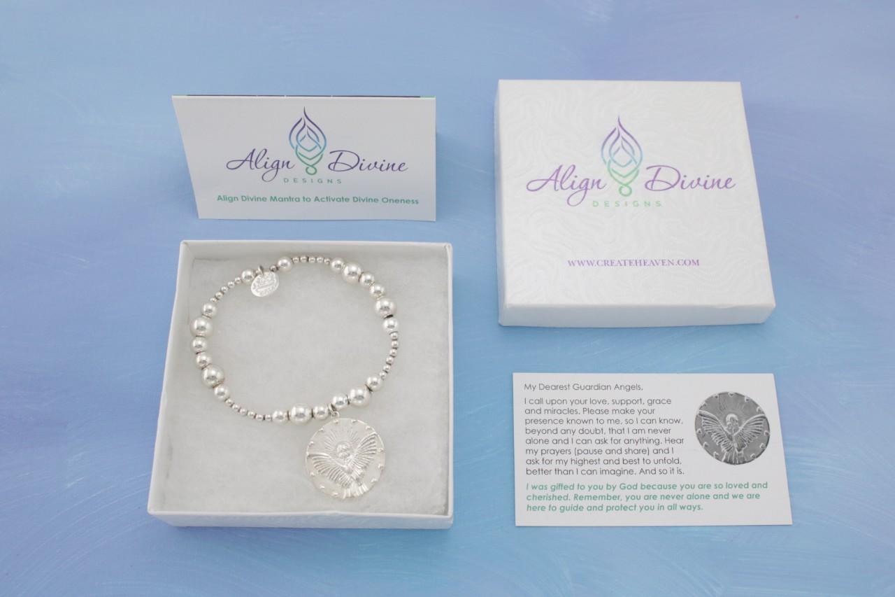 Guardian Angel Silver Bracelet Bali Ball