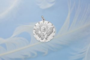 Guardian Angel Silver Charm Front